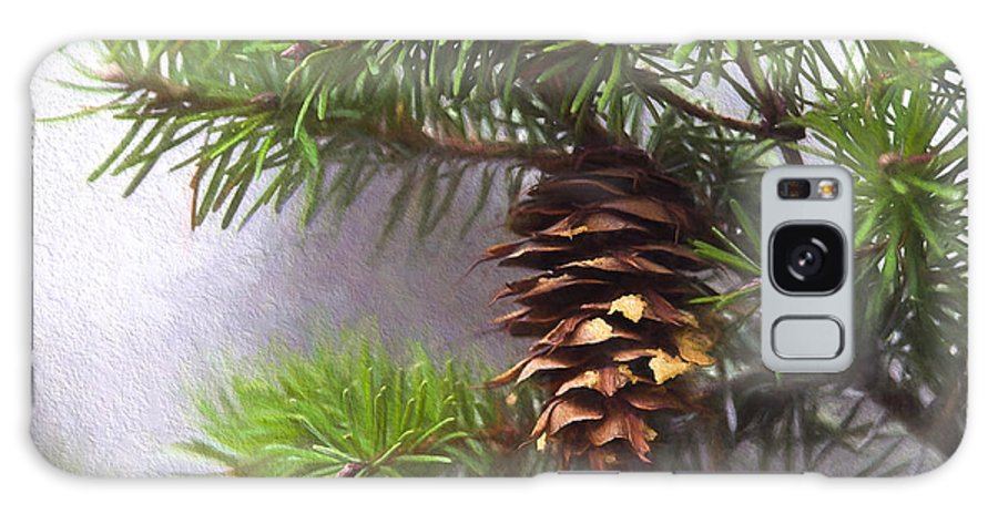 Fir Cone Galaxy S8 Case featuring the photograph Fir Cone Digital Painting by Sharon Talson