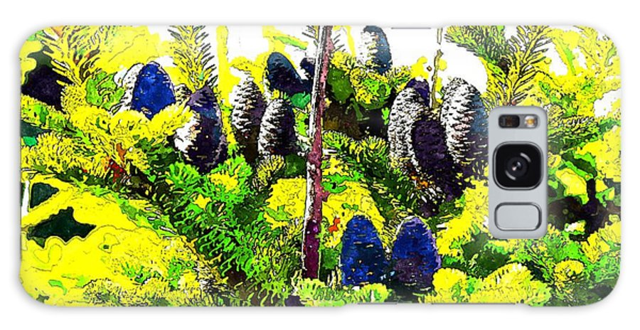 Fir Tree Buds Abstract Galaxy S8 Case featuring the photograph Fir Tree Buds Abstract by Barbara Griffin