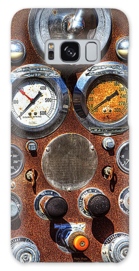Gauges Galaxy S8 Case featuring the photograph Fire Engine Gauges by Phyllis Denton