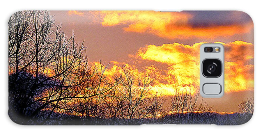 Landscape Galaxy Case featuring the photograph Fire In The Sky by Rennae Christman