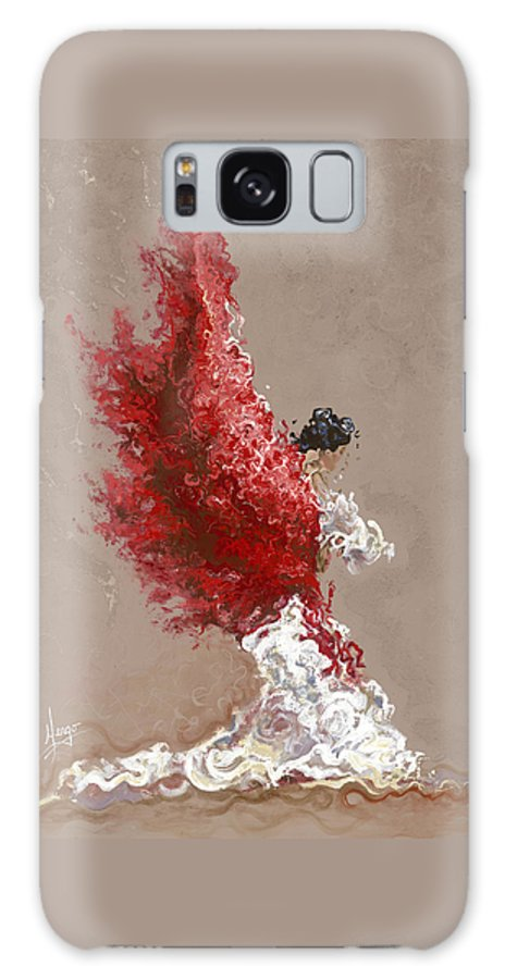 Dance Galaxy Case featuring the painting Fire by Karina Llergo