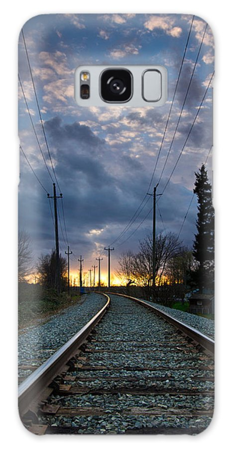 Vertical Galaxy S8 Case featuring the photograph Fire On The Horizon by Eti Reid