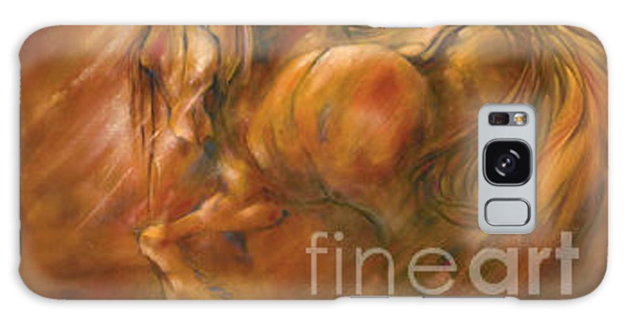Horse Galaxy S8 Case featuring the painting Fire by Wendy Froshay