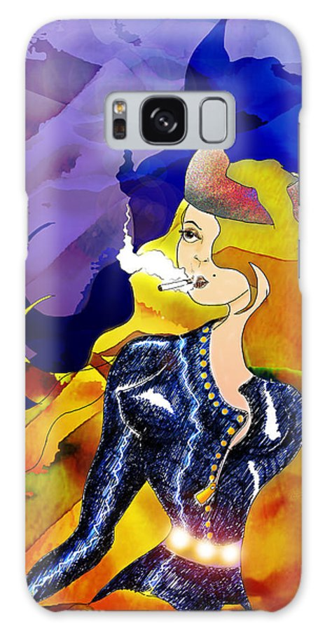 Smoking Galaxy S8 Case featuring the digital art Firebrand by Grant Wilson