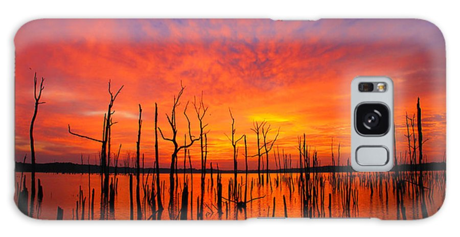 Sunrise Galaxy S8 Case featuring the photograph Fired Up Morn by Roger Becker