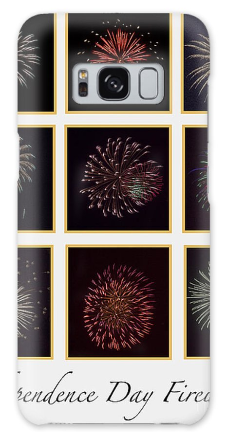 Fire Galaxy S8 Case featuring the photograph Fireworks - White Background by Scott Hervieux