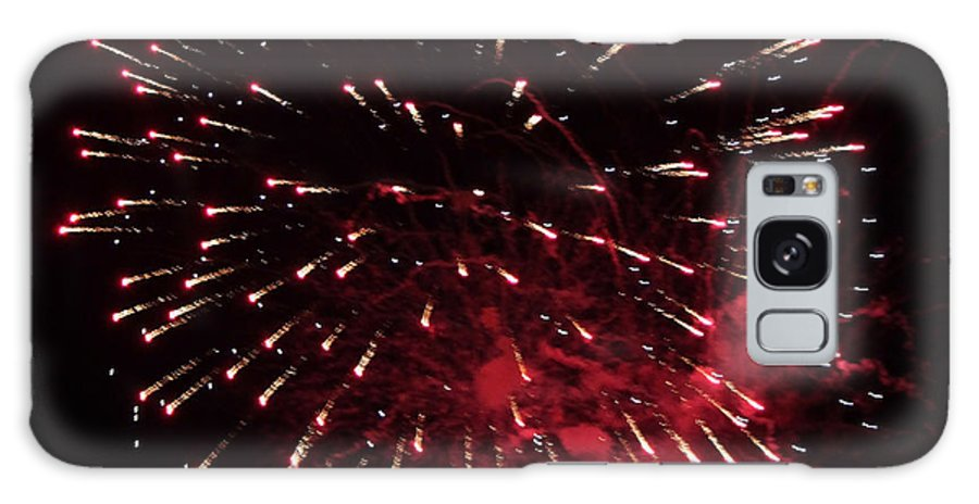 July Galaxy S8 Case featuring the photograph Fireworks Series Ix by Suzanne Gaff