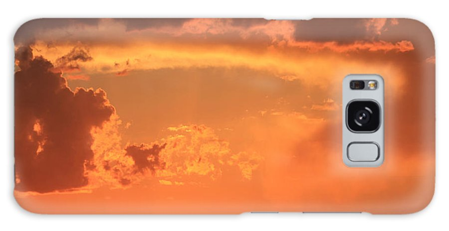 Sunrise Galaxy S8 Case featuring the photograph Firey Sunrise by Kathleen Nash