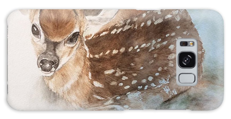 Fawn On Her First Day Galaxy S8 Case featuring the painting First Day by Julie Wedean