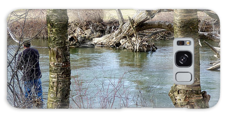 Waterscape Galaxy Case featuring the photograph First Day Of Fishing by Rennae Christman
