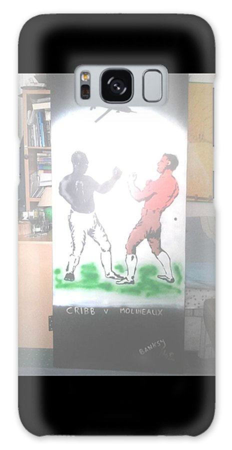Urban Street Art Galaxy S8 Case featuring the painting First Ever World Title Fight Cribb V Molineaux by MERLIN Vernon