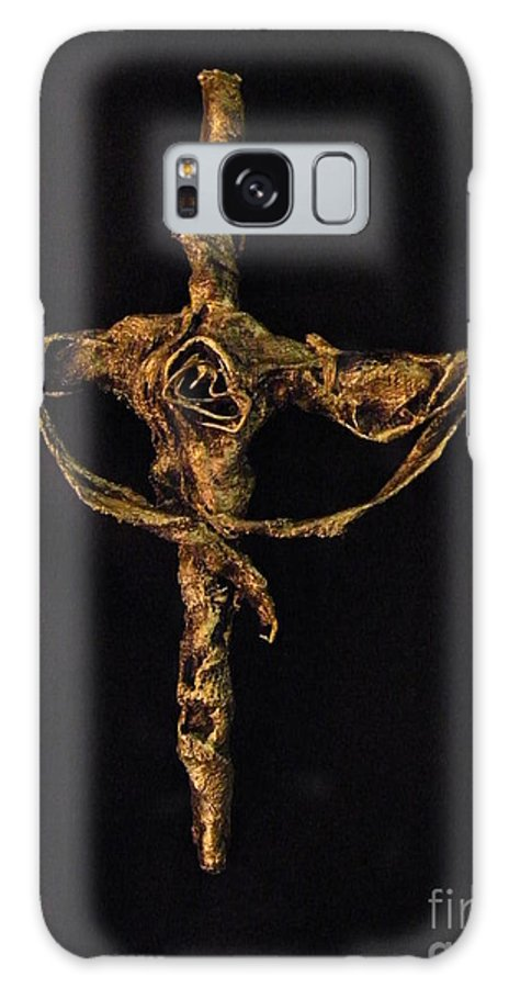 Christ Galaxy S8 Case featuring the sculpture First Rose by Jan Reid