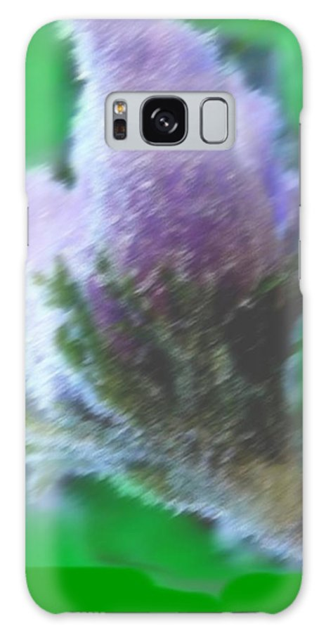 Landscape Galaxy S8 Case featuring the digital art First Spring Flower by Dr Loifer Vladimir