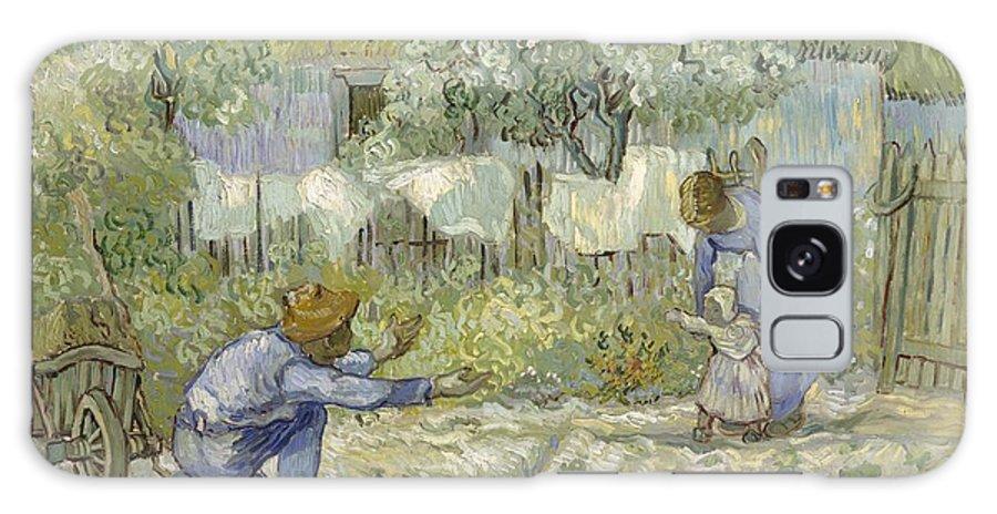 First Steps Galaxy S8 Case featuring the digital art First Steps Van Gogh by Georgia Fowler