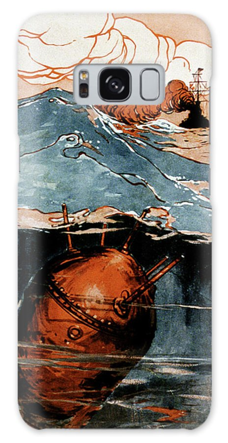 Nobody Galaxy S8 Case featuring the photograph First World War Naval Mine by Cci Archives