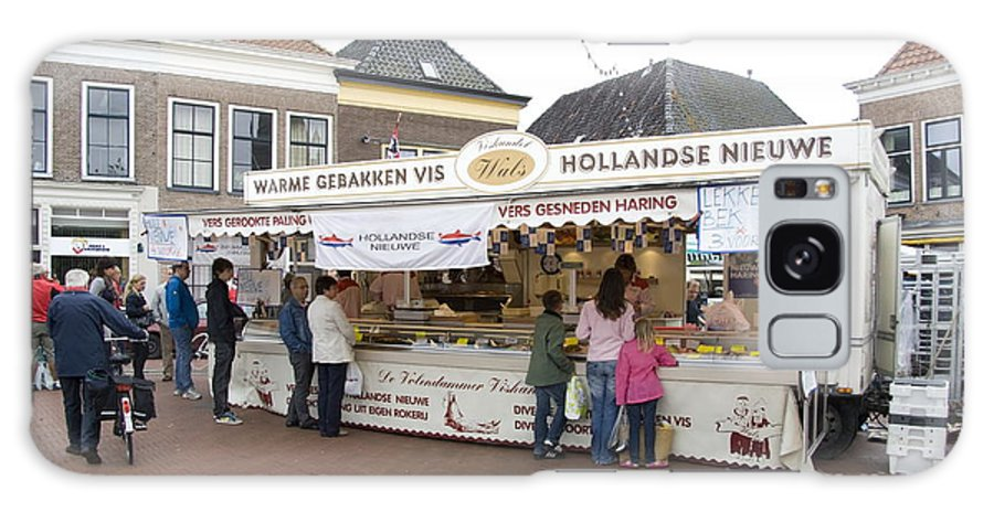 Steenwijk Galaxy S8 Case featuring the photograph Fish Stall In The Market In Steenwijk Netherlands by Ronald Jansen