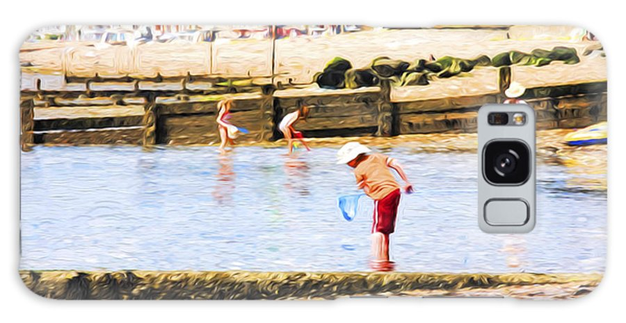 Children Fishing Galaxy Case featuring the photograph Fishing at Southend by Sheila Smart Fine Art Photography
