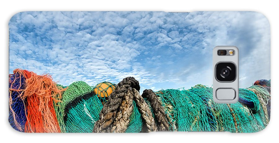 Alto-cumulus Galaxy S8 Case featuring the photograph Fishing Nets And Alto-cumulus Clouds by Susie Peek
