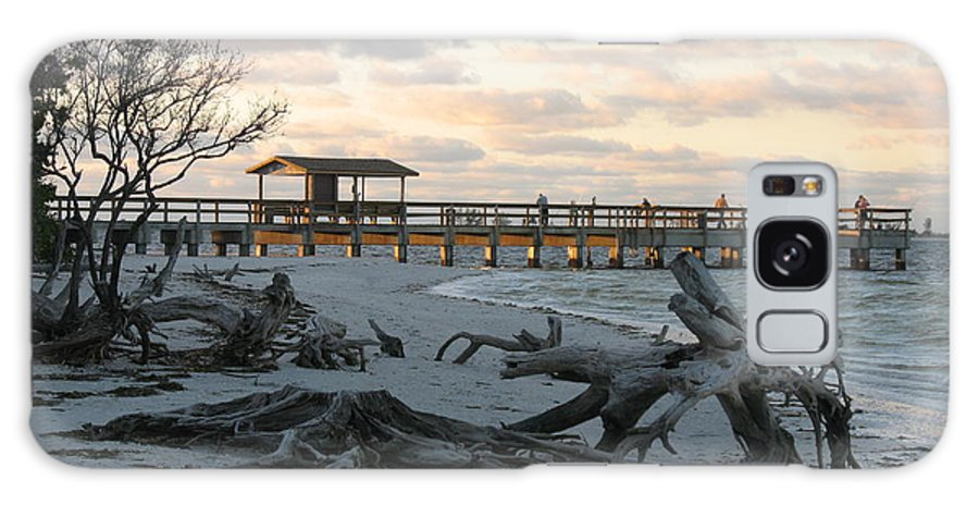 Fishing Pier Galaxy S8 Case featuring the photograph Fishing Pier And Driftwood by Christiane Schulze Art And Photography