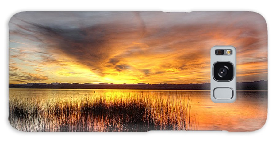 Havasu Galaxy S8 Case featuring the photograph Fishing Pier Sunset by Fred Hahn
