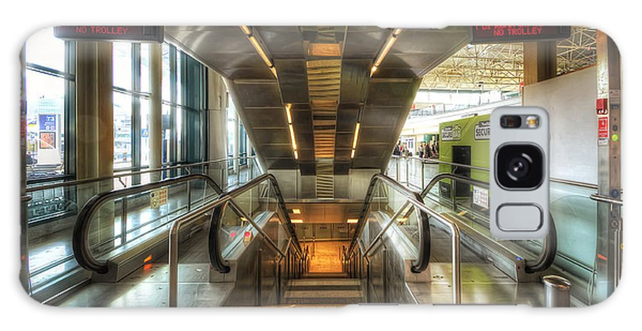 Yhun Suarez Galaxy S8 Case featuring the photograph Fiumicino Airport Escalator by Yhun Suarez