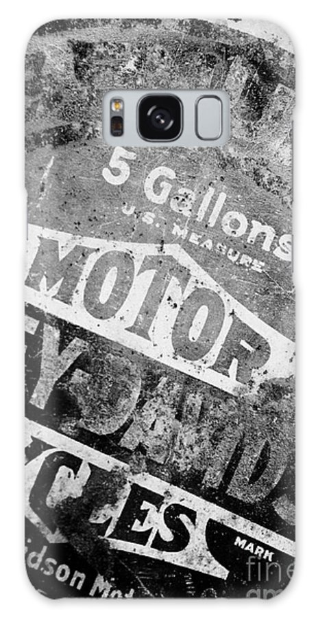 Oil Galaxy S8 Case featuring the photograph Five Gallon Motorcycle Oil Can by Wilma Birdwell