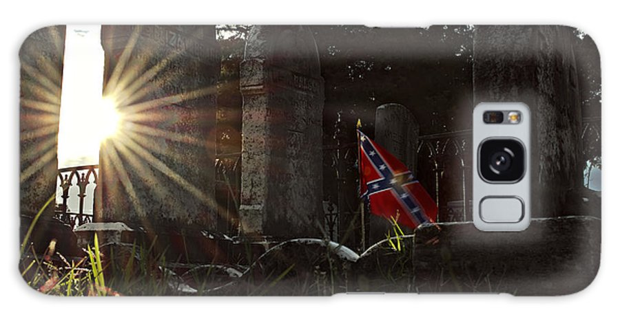 Confederate Galaxy S8 Case featuring the photograph Flag And Stone by Brian Archer