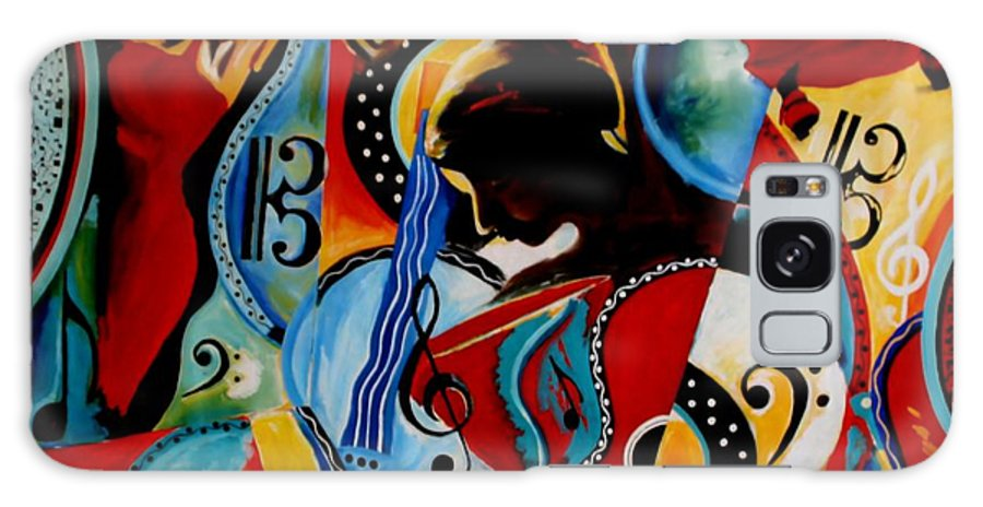 Bright Galaxy S8 Case featuring the painting Flamenco by Vel Verrept
