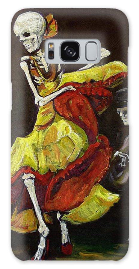 Muertos Galaxy Case featuring the painting Flamenco Vi by Sharon Sieben