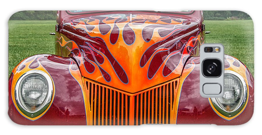 1939 Ford Coupe Galaxy S8 Case featuring the photograph Flames by Guy Whiteley