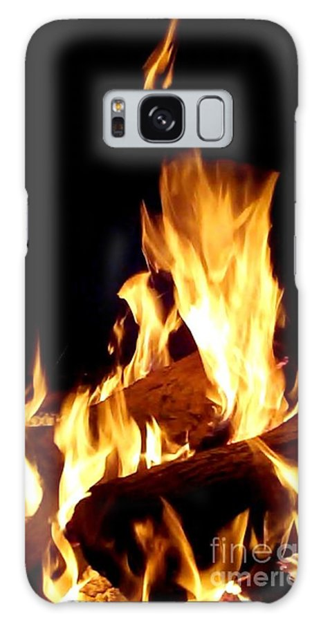 Fire Galaxy S8 Case featuring the photograph Flames In The Dark by Cindy New