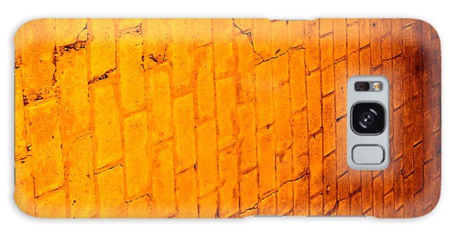 Brick Galaxy S8 Case featuring the photograph Flamming Brick Wall by Michael Sokalski
