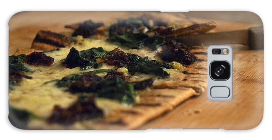 Food Galaxy S8 Case featuring the photograph Flat Bread Pizza by John Lombardi