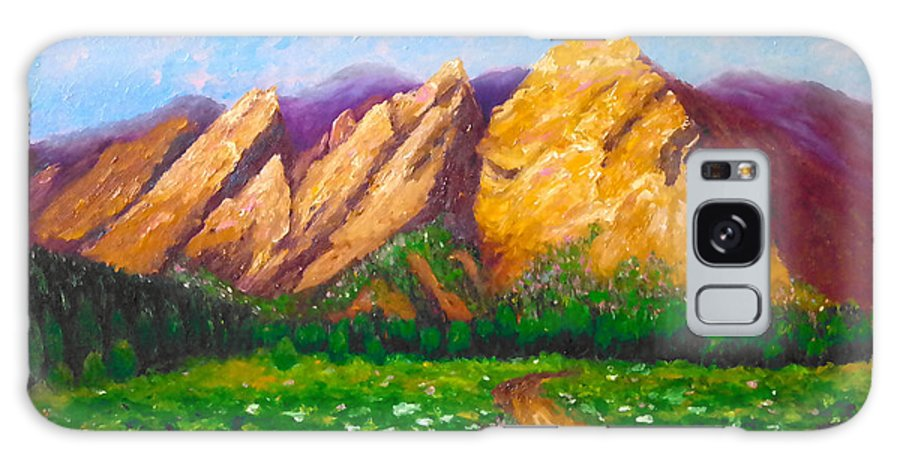 Mountain Galaxy S8 Case featuring the painting Flat Iron Colorado by Francesca Kee
