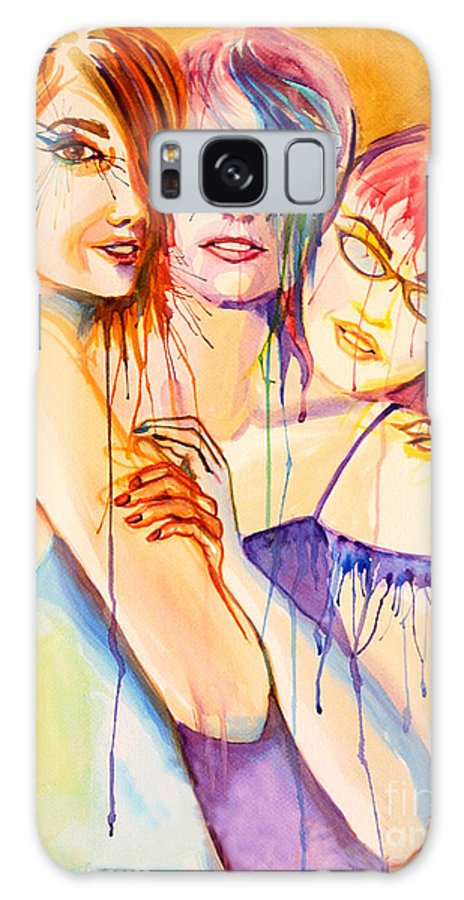 Portraits Galaxy S8 Case featuring the painting Flawless by Angelique Bowman