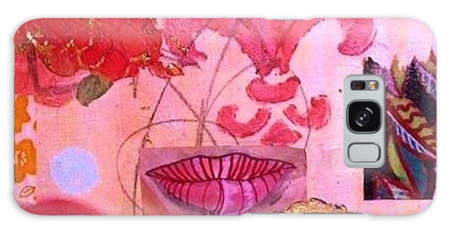Lips Galaxy S8 Case featuring the painting Fleur De Lips by Melinda Jones