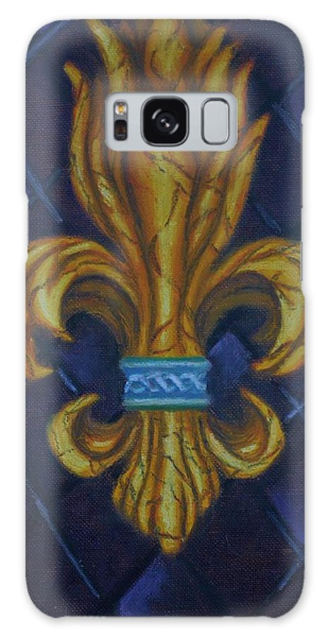 Fleur Galaxy S8 Case featuring the painting Fleur De Lis by Jered Klodt
