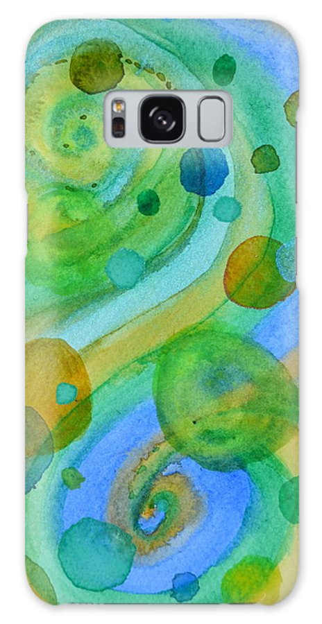 Abstract Galaxy S8 Case featuring the painting Flight 319 by Beverley Harper Tinsley