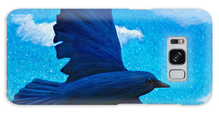 Raven Galaxy S8 Case featuring the painting Flight by Brian Commerford