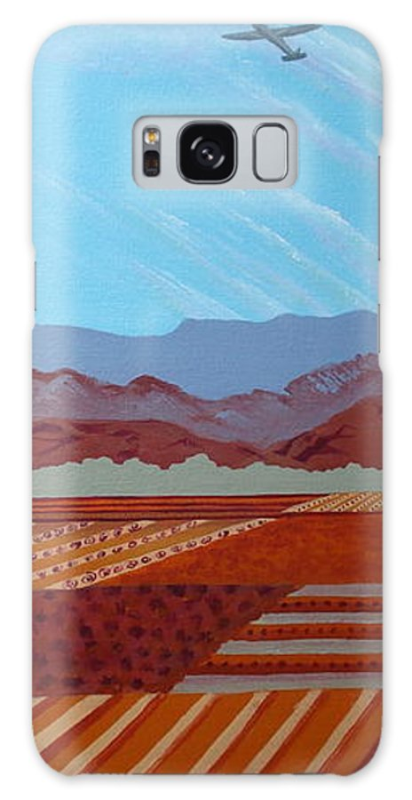 Agriculture Galaxy S8 Case featuring the painting Flight Over Santa Paula by Illona Battaglia Aguayo