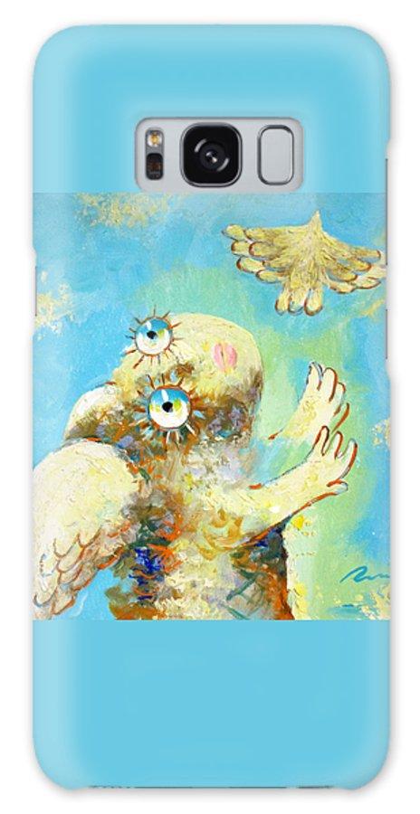Flight Galaxy S8 Case featuring the painting Flight by Sergey Lipovtsev