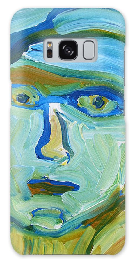 Portrait Galaxy S8 Case featuring the painting Floating Head by Shea Holliman