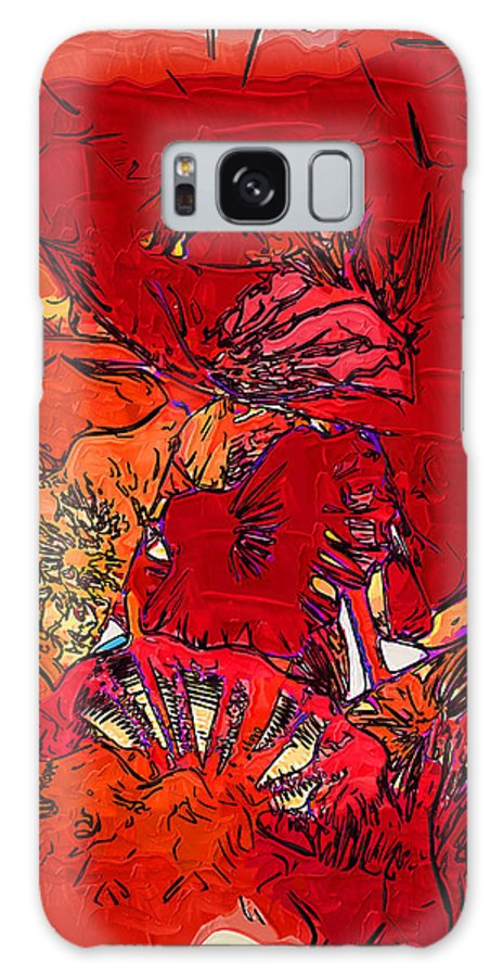 Abstract Galaxy S8 Case featuring the digital art Floral Bouquet by Kirt Tisdale