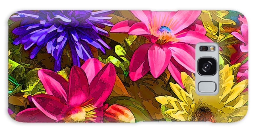 Colorful Flowers Galaxy S8 Case featuring the digital art Floral Colors 1 by Ray White