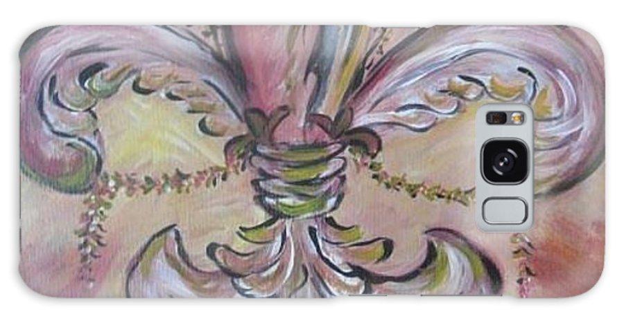 Fluer De Lis Galaxy S8 Case featuring the painting Floral De Lis by Mary DeSilva