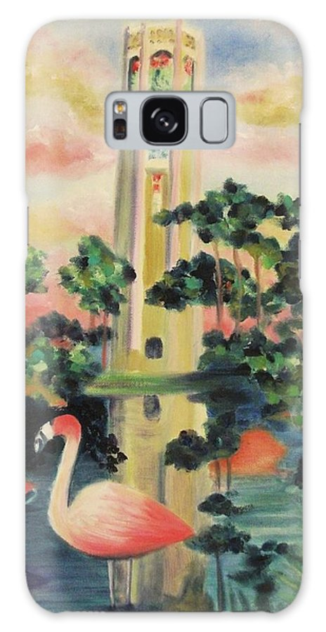 Florida Galaxy S8 Case featuring the painting Florida Flamingo's by Suzanne Marie Leclair