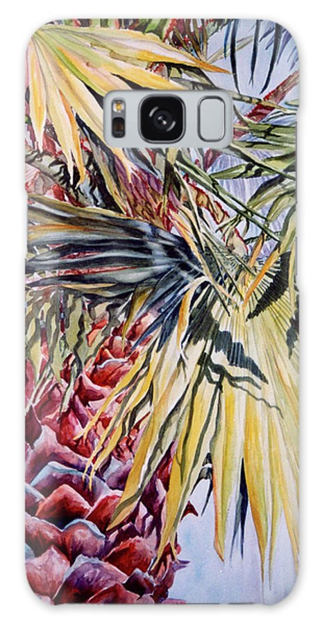 Palmetto Galaxy S8 Case featuring the painting Florida's Pride by Roxanne Tobaison