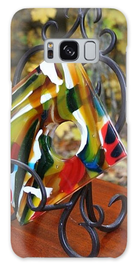 Fused Galaxy S8 Case featuring the glass art Flow Study by Jill Groves