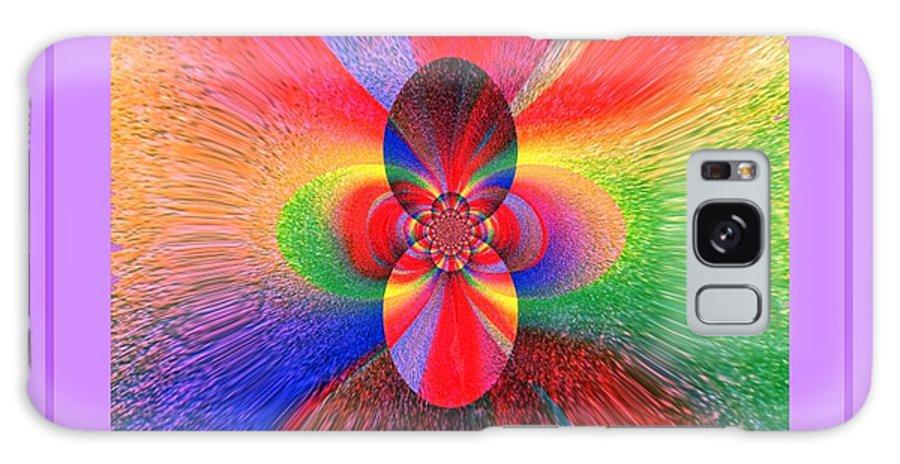 Mandala Galaxy S8 Case featuring the digital art Flower 290c by Lawrence Nusbaum