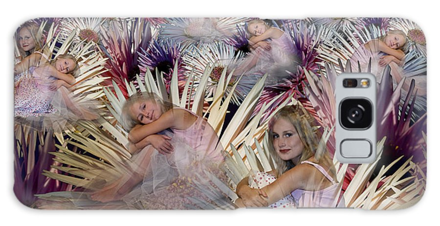 Children Galaxy S8 Case featuring the digital art Flower Field by Angelika Drake